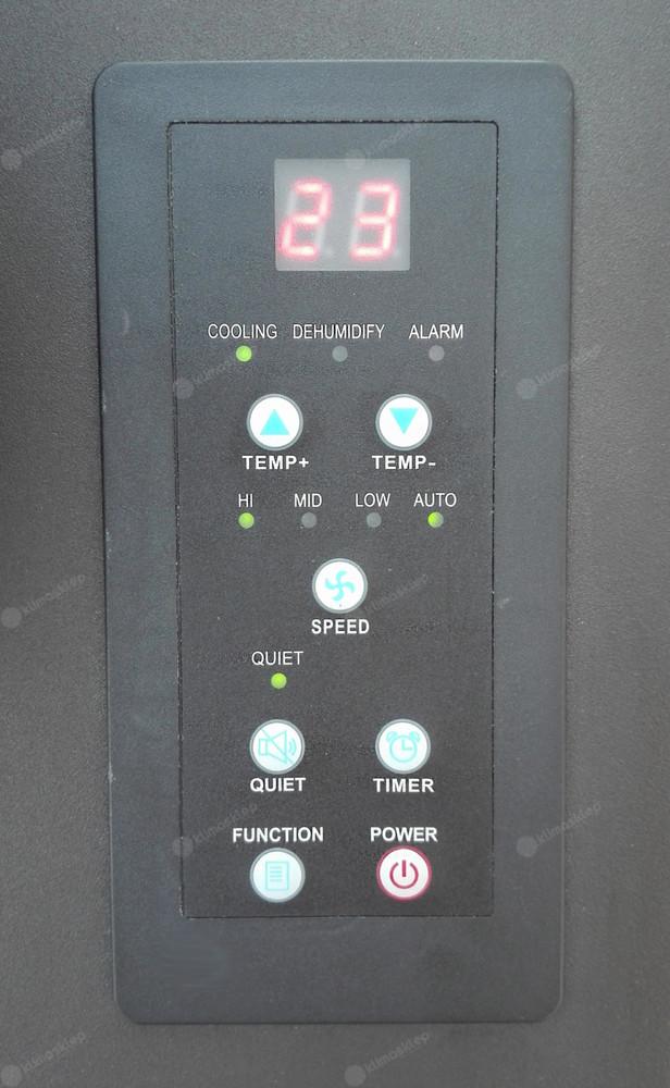 Klimatyzator przenośny FRAL FSC 18 - panel sterowania