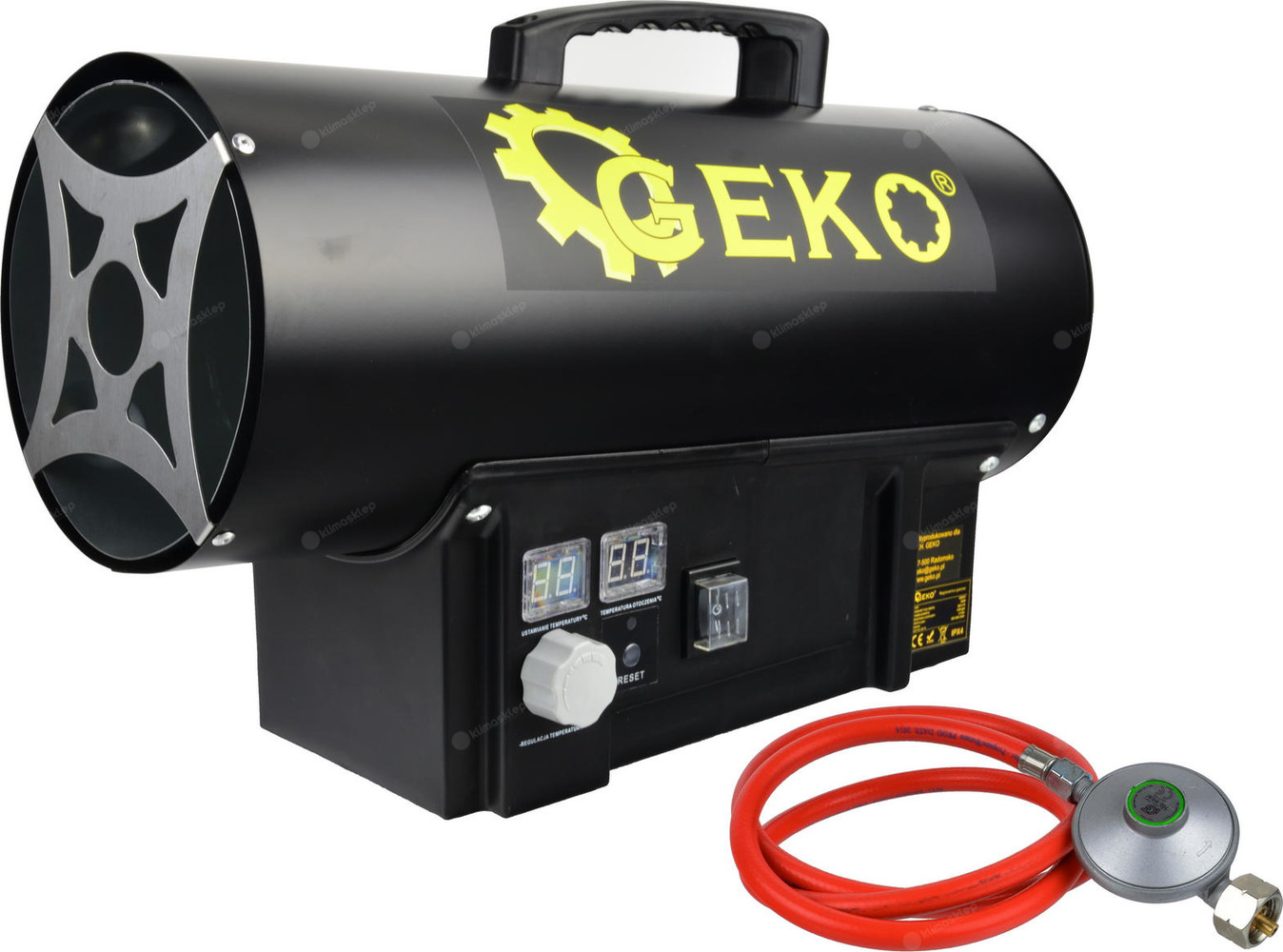 Nagrzewnica gazowa Geko 20 kW jest bardzo wydajna