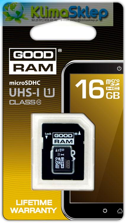 Karta pamięci microSD Goodram 16GB do kamer samochodowych DOD