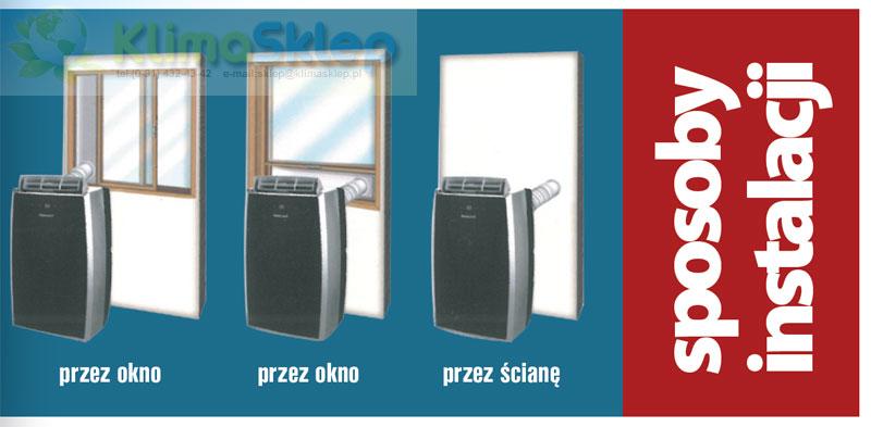 Klimatyzator przenośny Thomson CLI110E - sposoby instalacji