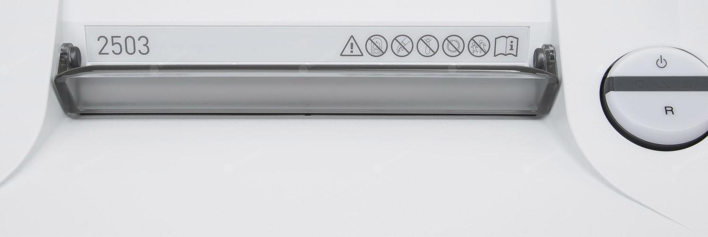 Niszczarka IDEAL 2503 CC / 2x15MM - panel órny