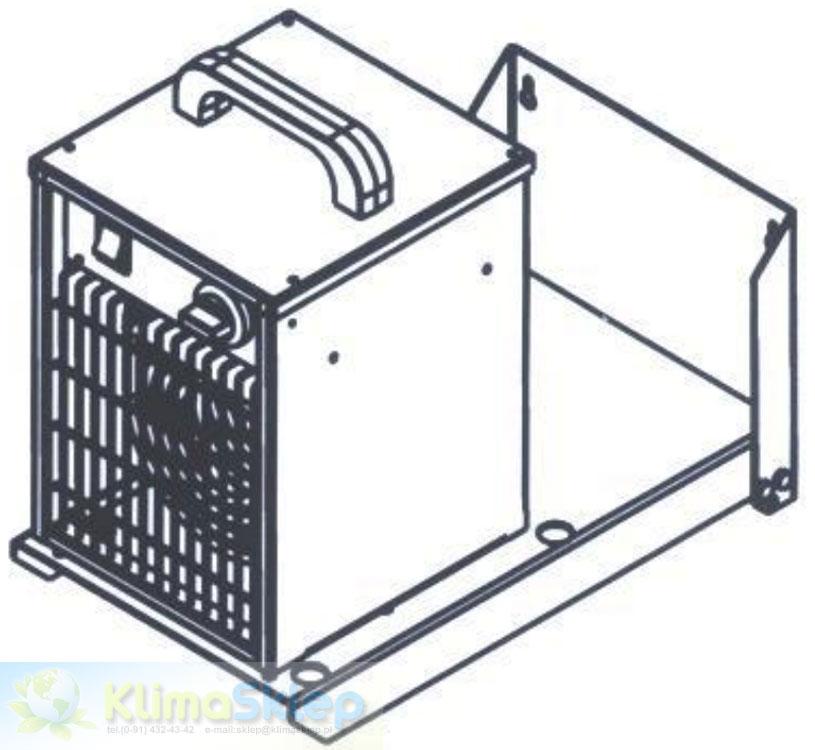 Półka montażowa do nagrzewnic elektrycznych od 2kW do 5kW