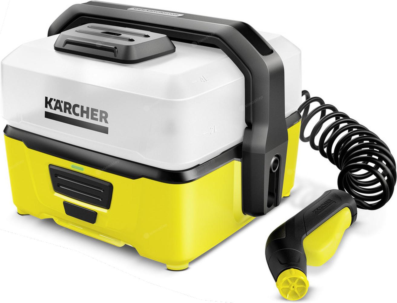 Akumulatorowa myjka ciśnieniowa Kärcher OC 3 Mobile Outdoor Cleaner z zestawem Adventure Box