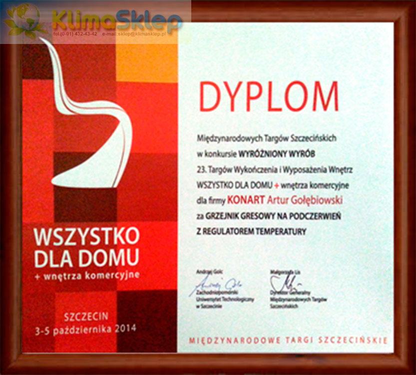KonArt Dyplom targów WSZYSTKO DLA DOMU