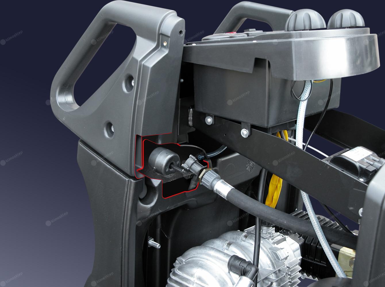 Myjki Lavor z serii Tekna mają silnik z ochroną termiczną i chłodzeniem wodnym