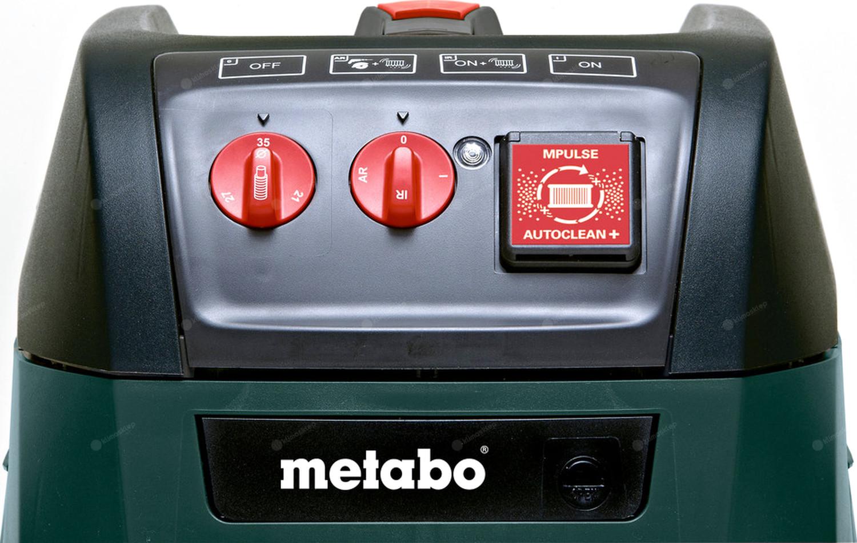 Odkurzacz Metabo ASR 35 M ACP z gniazdem do podłączenia elektronarzędzi