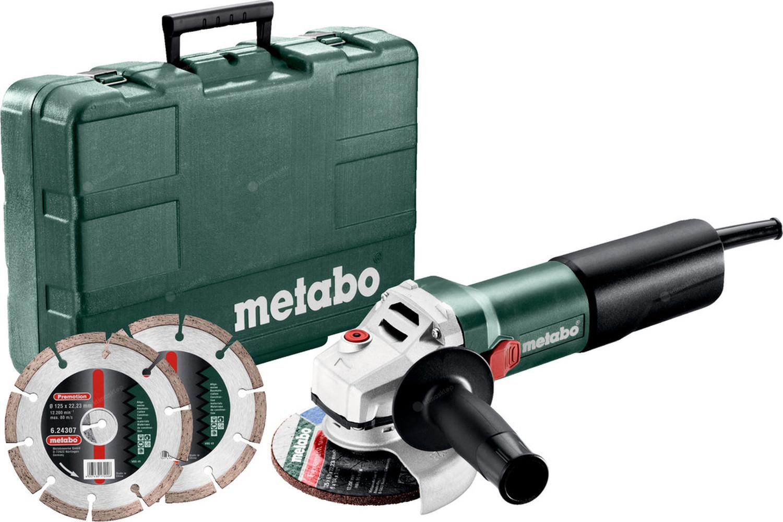 Szlifierka kątowa Metabo WQ 1100-125 Set - zawartość zestawu