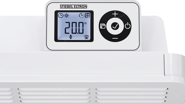 Konwektory na ścienne Stiebel Eltron CWM 1000 U - elektroniczny panel sterowania w wyświetlaczem LCD