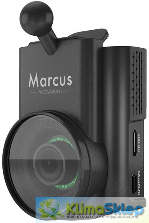Zamontowany uchwyt szybkiego montażu i filtr CPL na kamerze Vicovation Vico-Marcus 5 DUAL