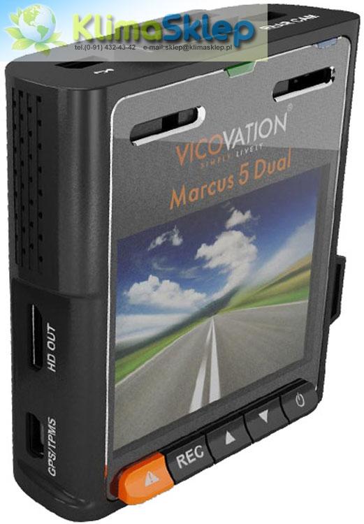 Samochodowy rejestrator trasy Vicovation Vico-Marcus 5 DUAL - widok od tyłu