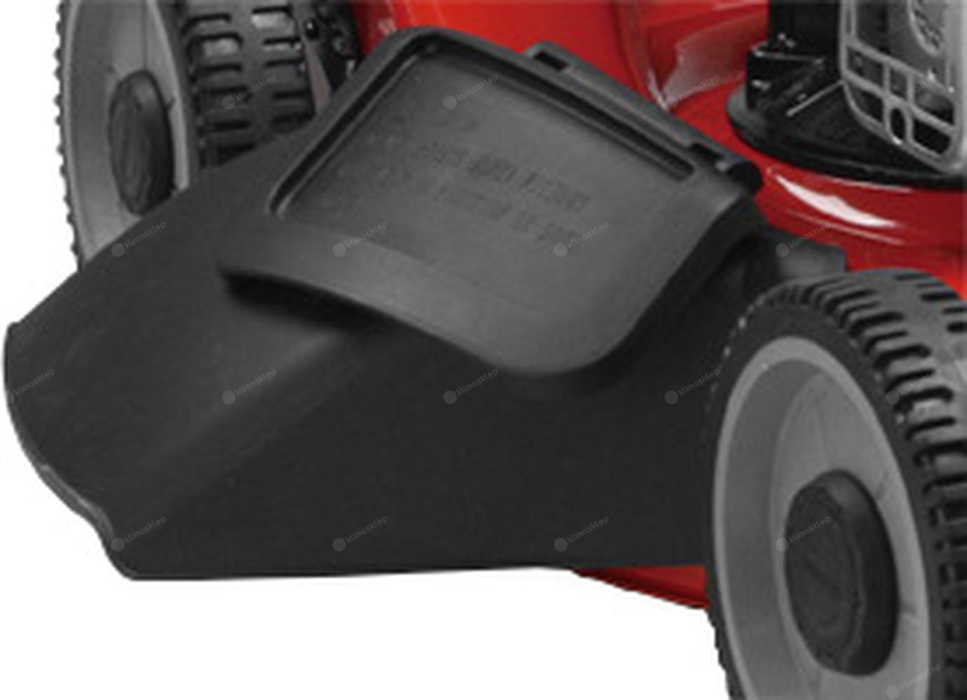 Kosiarka Weibang WB506SC posiada wyrzut boczny i tylny oraz kosz