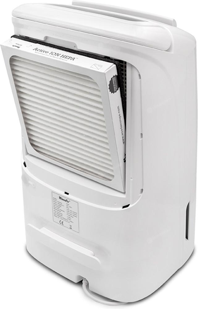 Osuszacz powietrza Wood's AD 20GHybrid jest wyposażony w filtr powietrza