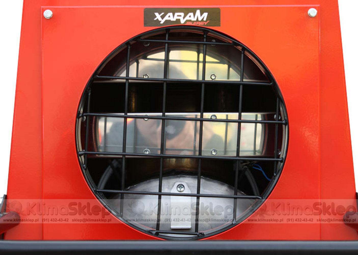 Nagrzewnica XARAM ENERGY P-40Z - wylot ciepłego powietrza