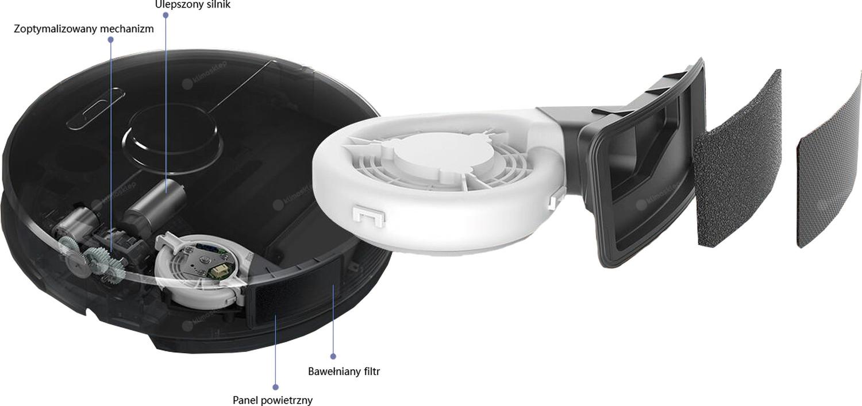 Robot sprzątający Xiaomi Roborock S 60 - usprawnienia względem modelu S50
